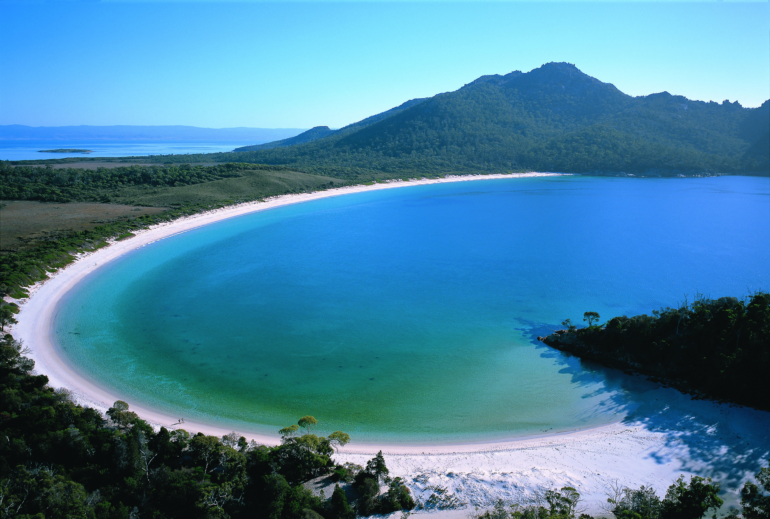 What is it about Wineglass Bay on Tasmanias east coast  East
