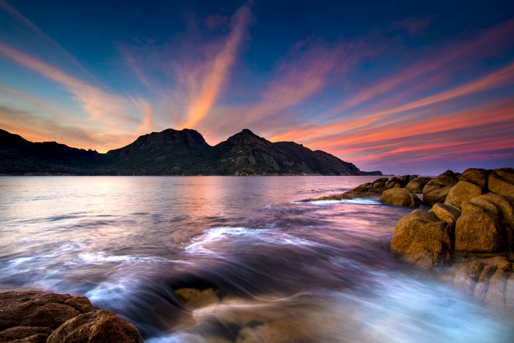 Sunset at Wineglass Bay by Sean Scott