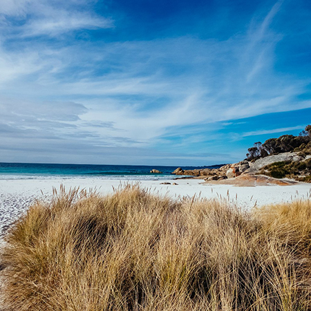 summer time on the east coast tasmania
