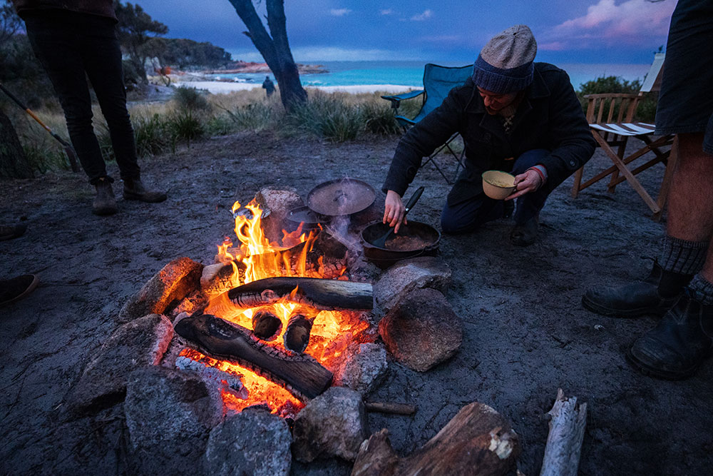 Things to do in Winter on East Coast Tasmania - Campfires, camping, Cosy Corner beach